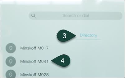 webex directory call
